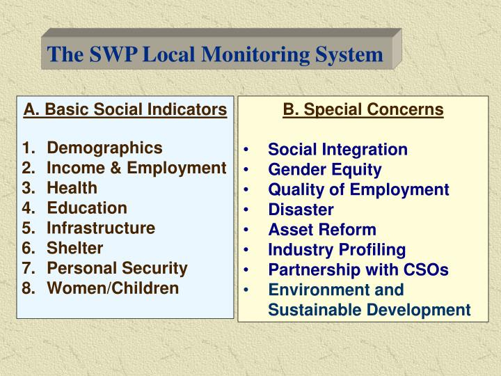 The SWP Local Monitoring System