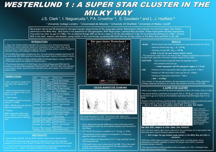 WESTERLUND 1 : A SUPER STAR CLUSTER IN THE