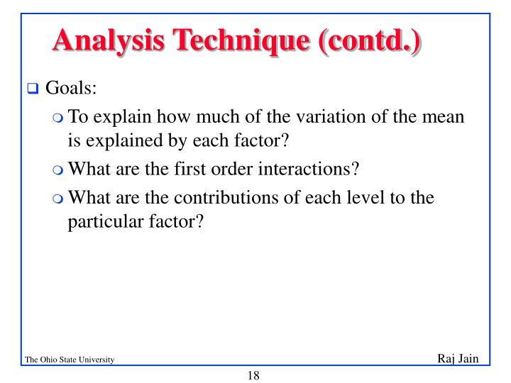 Analysis Technique (contd.)
