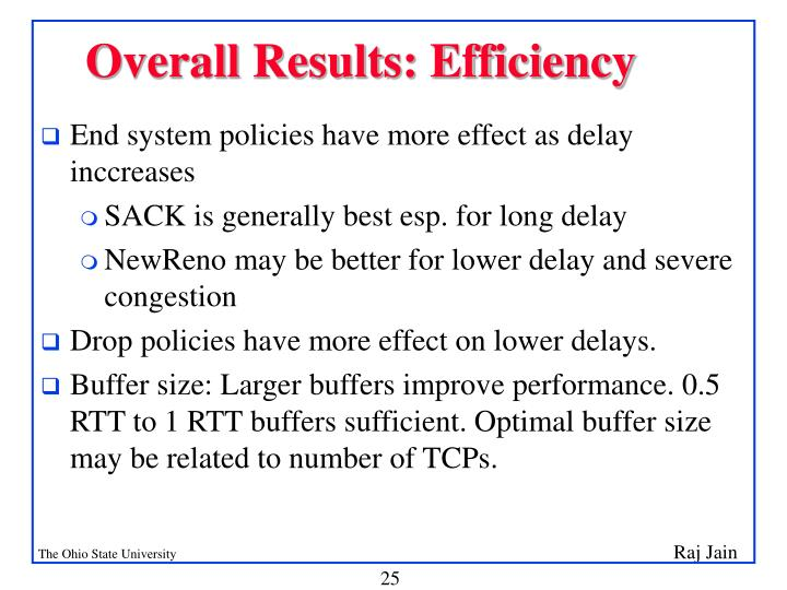 Overall Results: Efficiency