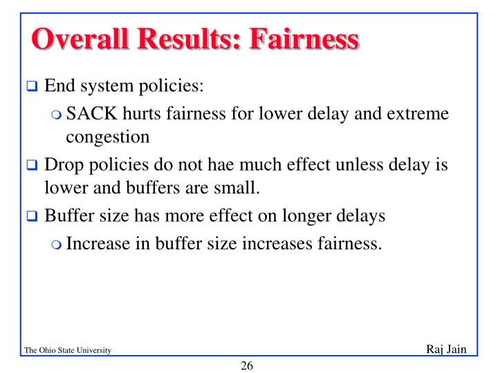 Overall Results: Fairness