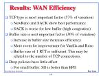 results wan efficiency