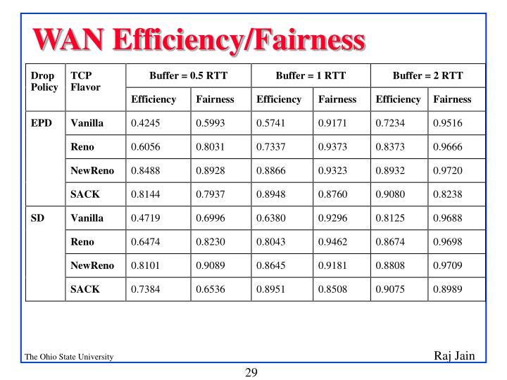 WAN Efficiency/Fairness