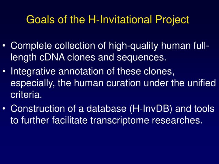 Complete collection of high-quality human full-length cDNA clones and sequences.