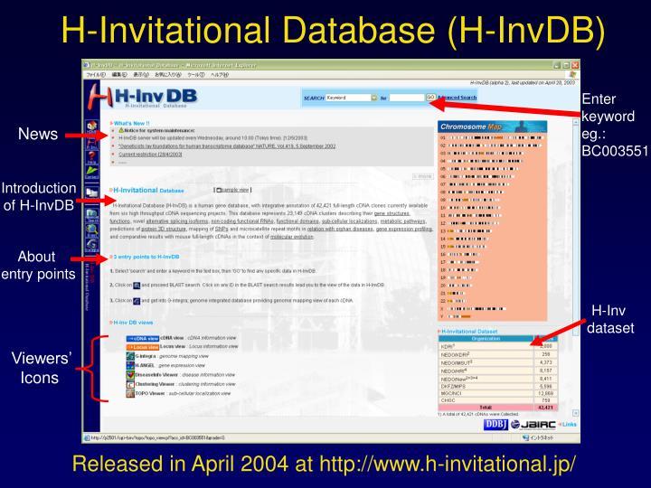 H-Invitational Database (H-InvDB)