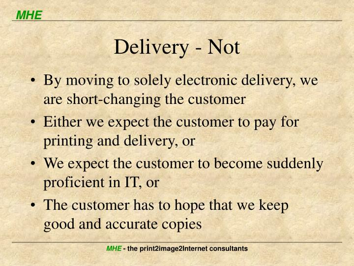 Delivery - Not
