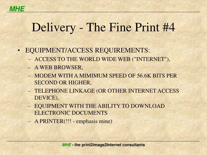 Delivery - The Fine Print #4