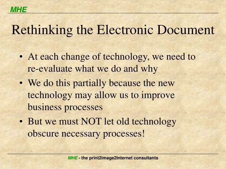 Rethinking the Electronic Document