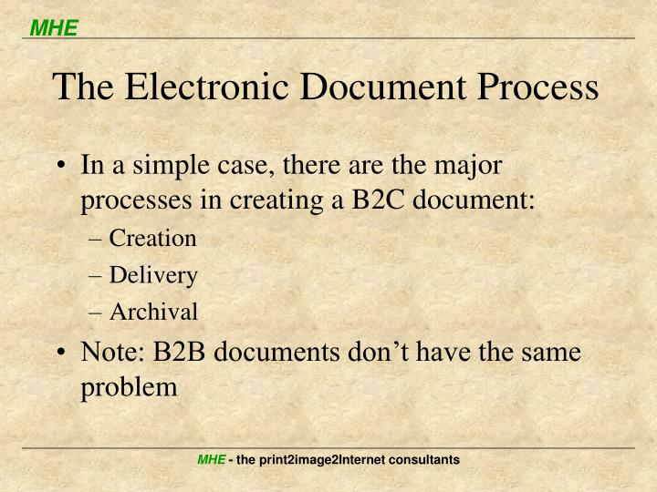 The Electronic Document Process