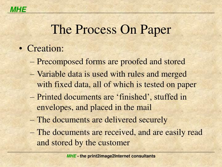 The Process On Paper