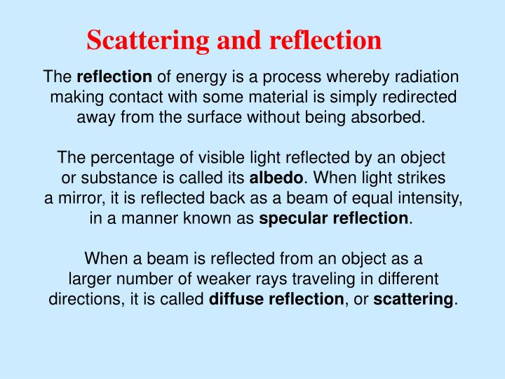 Scattering and reflection