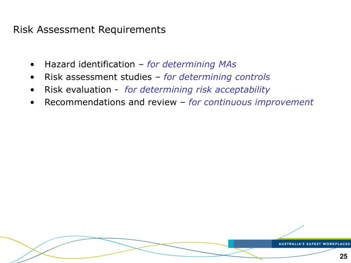 Risk Assessment Requirements