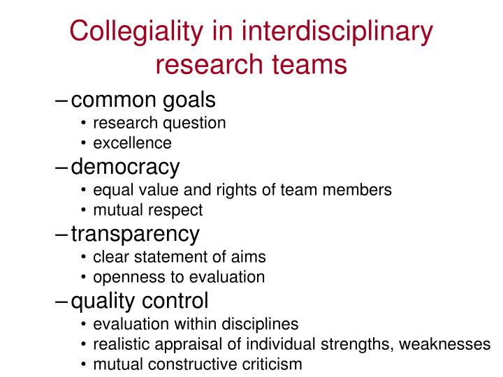 Collegiality in