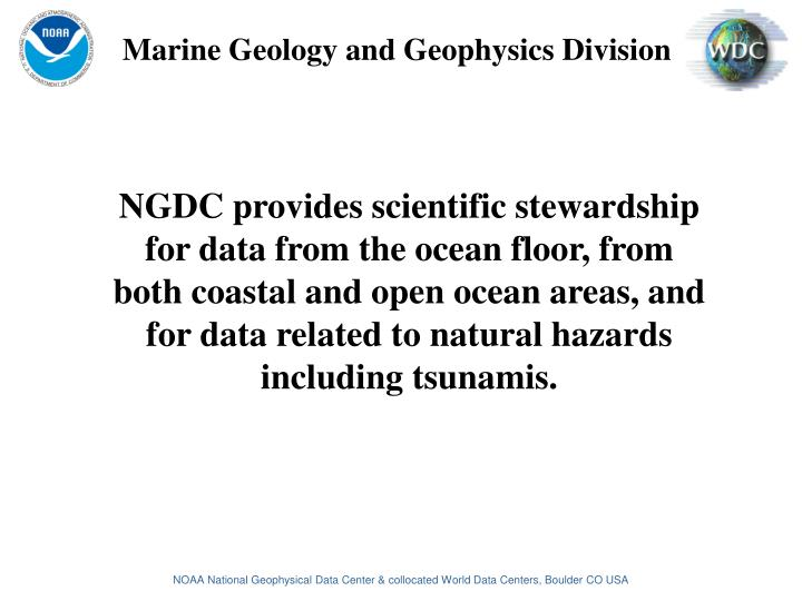 Marine Geology and Geophysics Division