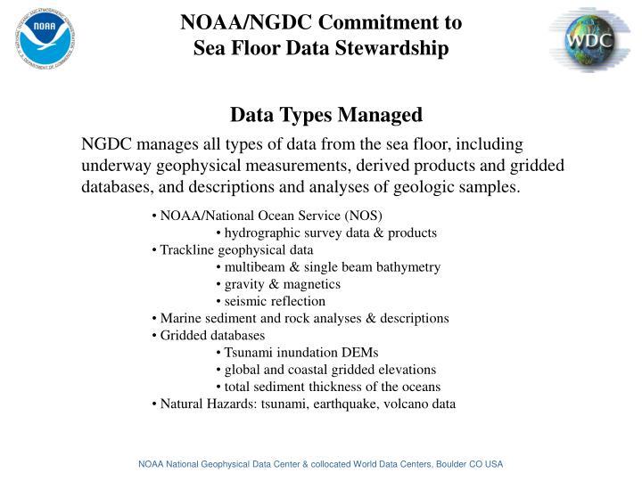 Data Types Managed