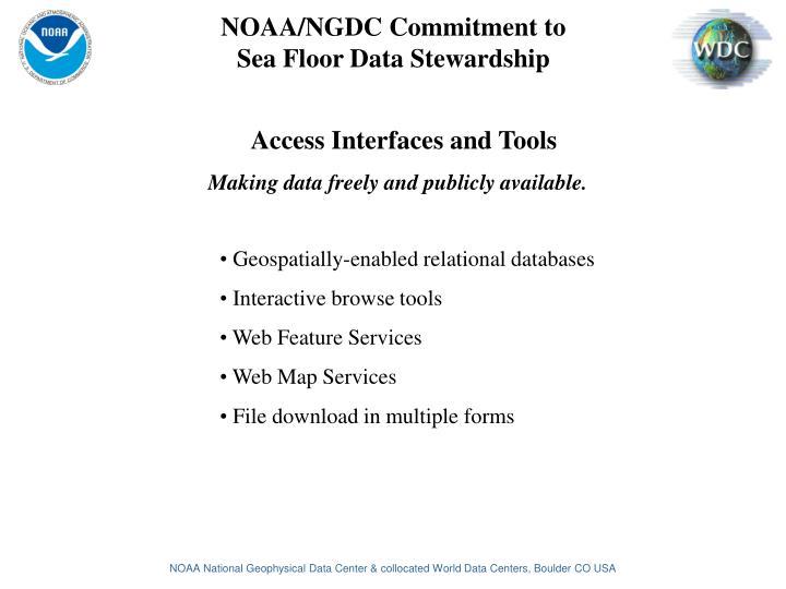 NOAA/NGDC Commitment to