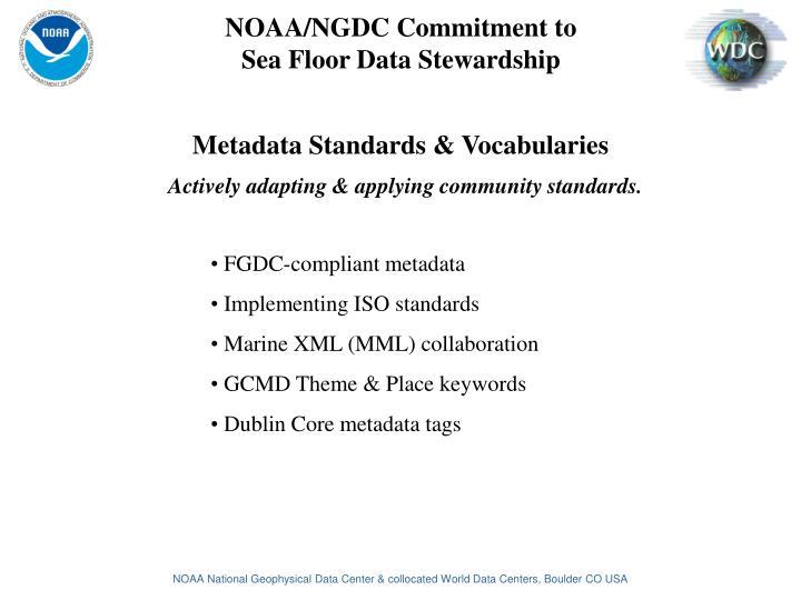 Metadata Standards & Vocabularies