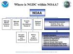 where is ngdc within noaa