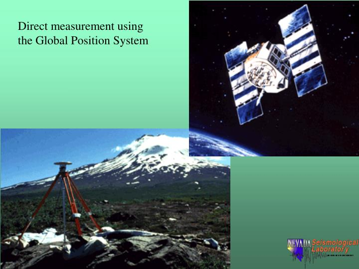 Direct measurement using the Global Position System
