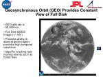 geosynchronous orbit geo provides constant view of full disk