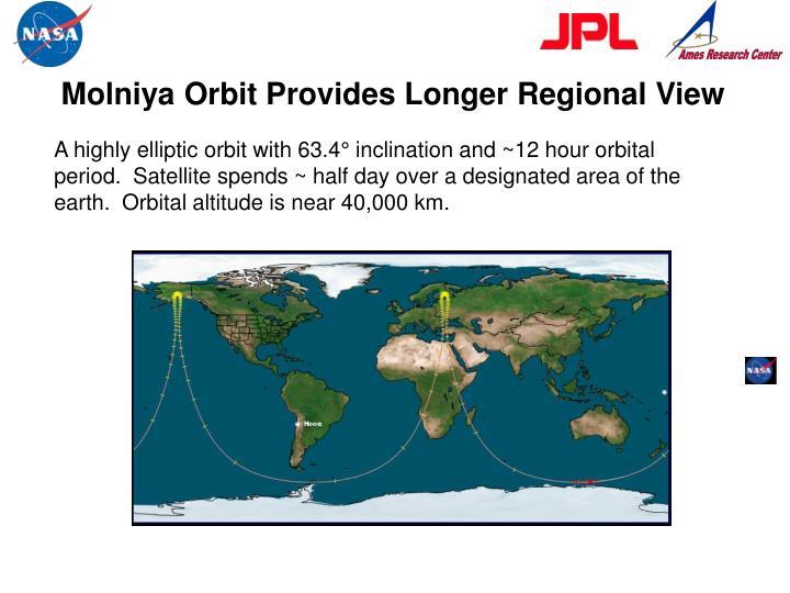Molniya Orbit Provides Longer Regional View
