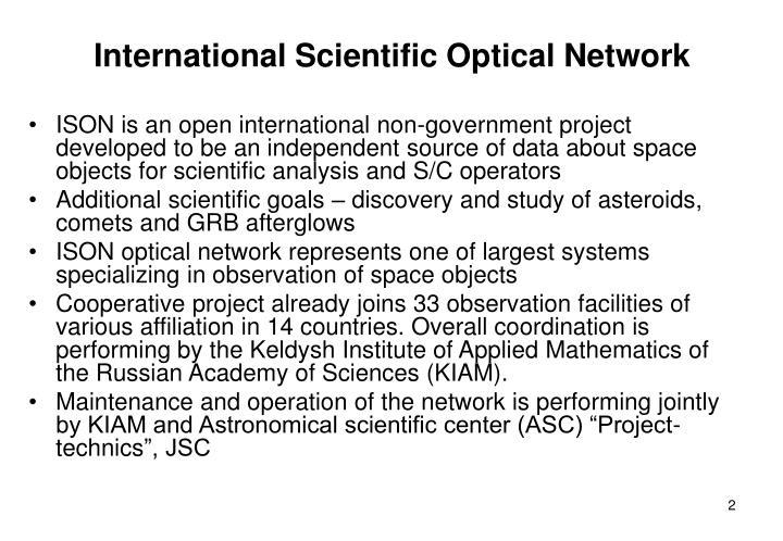 International Scientific Optical Network