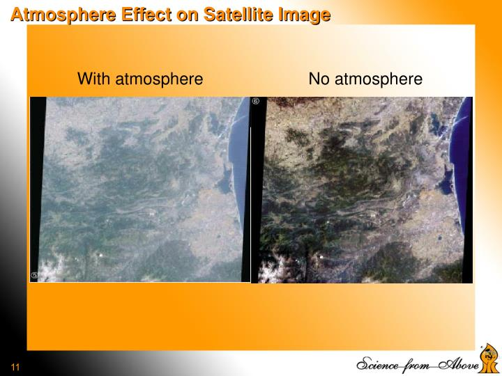 Atmosphere Effect on Satellite Image
