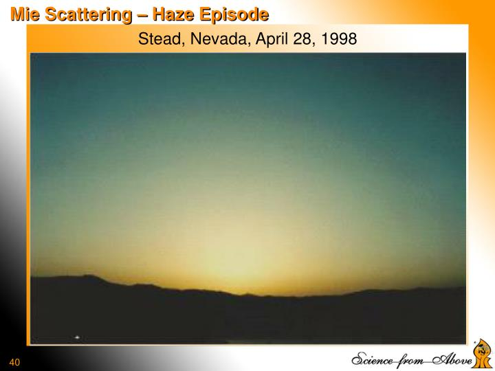 Mie Scattering – Haze Episode