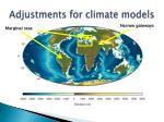 adjustments for climate models