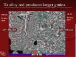 ta alloy rod produces larger grains1