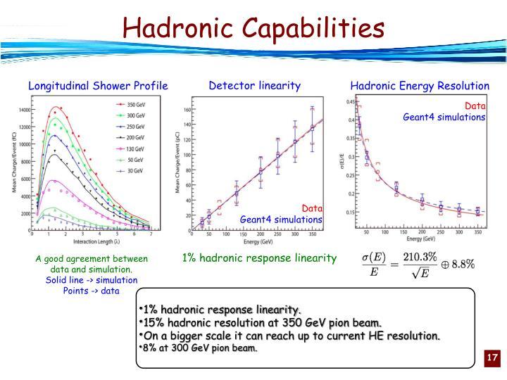 Hadronic Capabilities