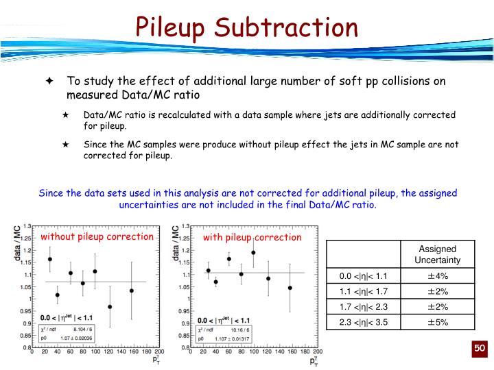 Pileup Subtraction