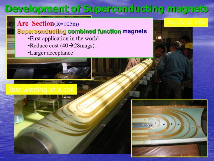 Development of Superconducting magnets
