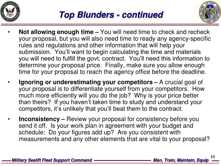 Top Blunders - continued