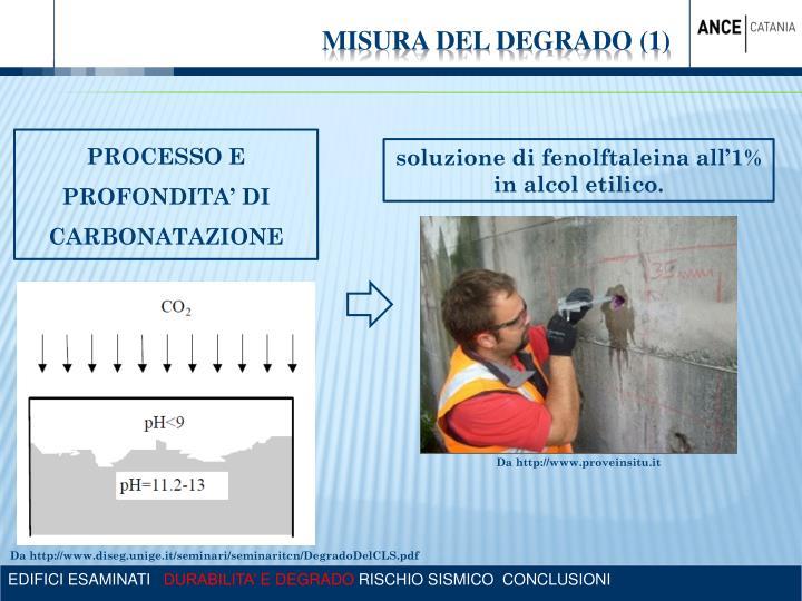 MISURA DEL DEGRADO (1)