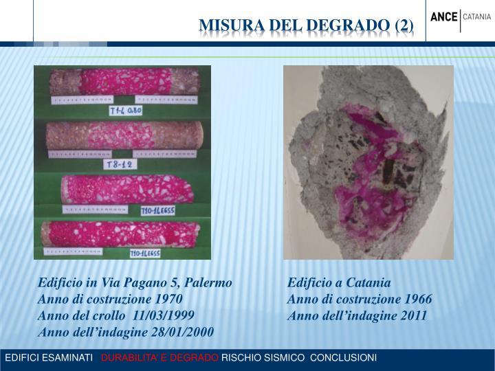 MISURA DEL DEGRADO (2)