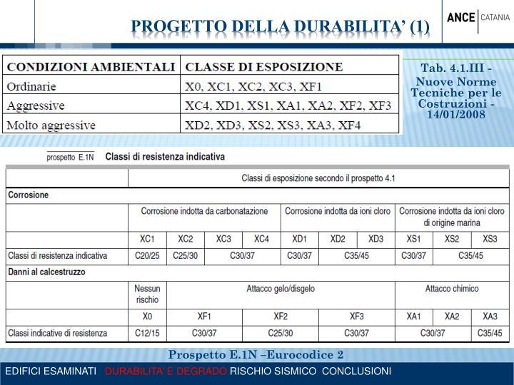 PROGETTO DELLA DURABILITA' (1)