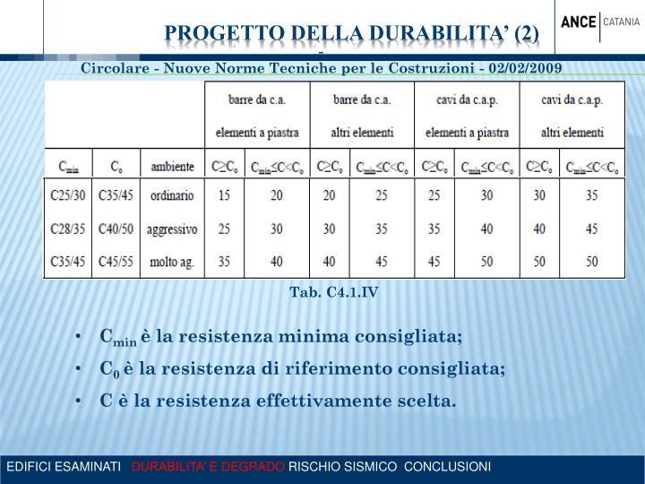 PROGETTO DELLA DURABILITA' (2)