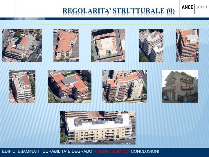 REGOLARITA' STRUTTURALE (0)
