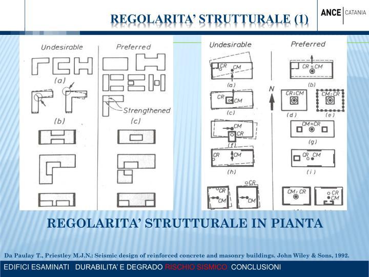 REGOLARITA' STRUTTURALE IN PIANTA