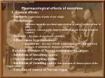 pharmacological effects of morphine