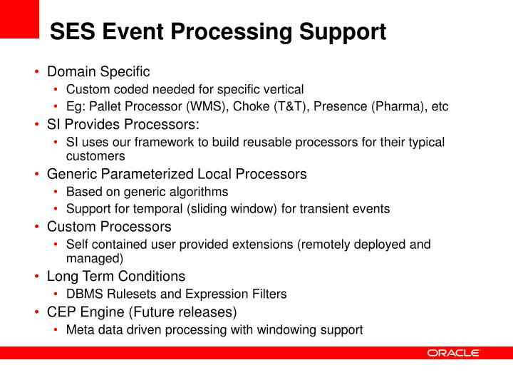 SES Event Processing Support