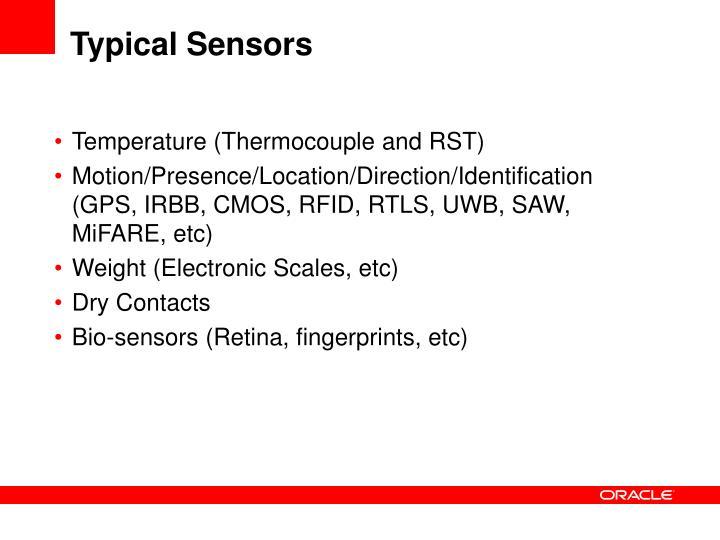 Typical Sensors