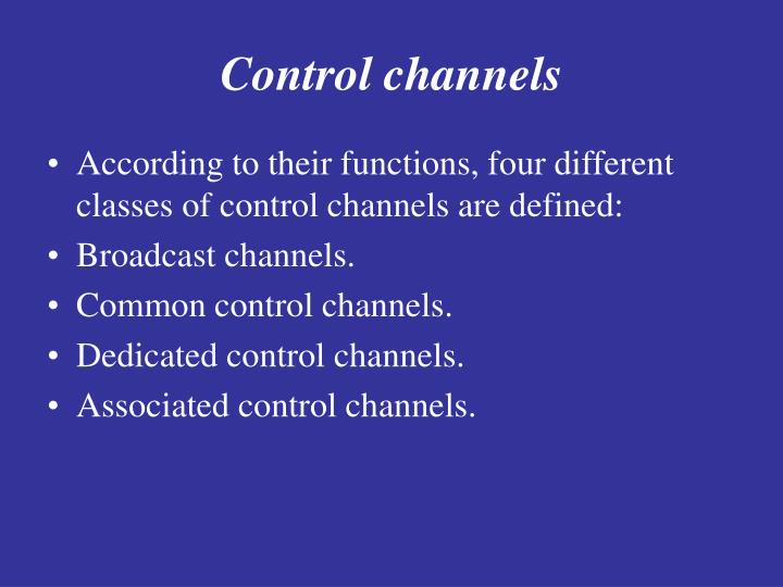 Control channels