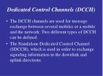 dedicated control channels dcch