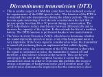 discontinuous transmission dtx