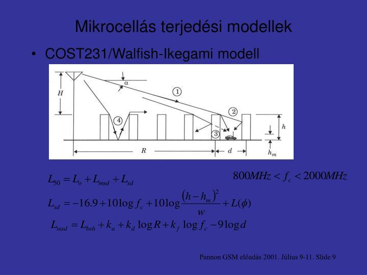 Mikrocellás terjedési modellek