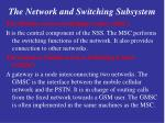 the network and switching subsystem