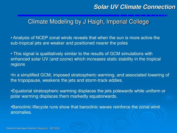 Solar UV Climate Connection