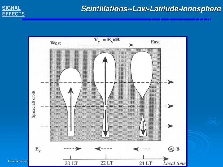 Scintillations--Low-Latitude-Ionosphere